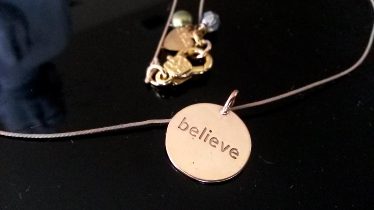Gold Believe Pendant