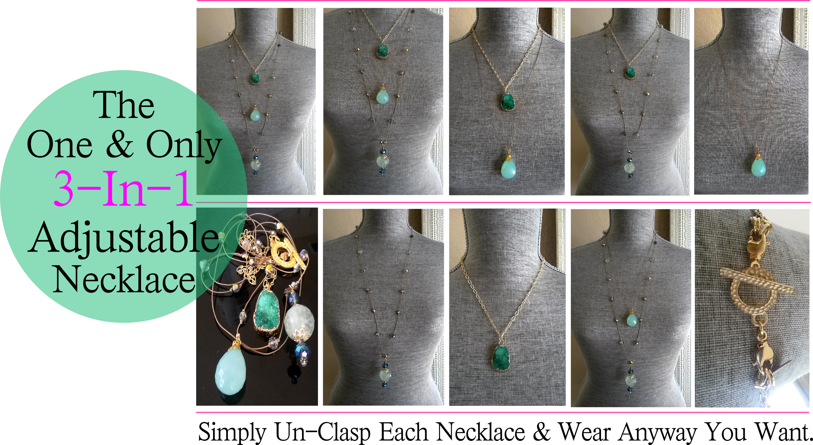 The One & Only 3-In-1 Wrap Adjustable Necklace